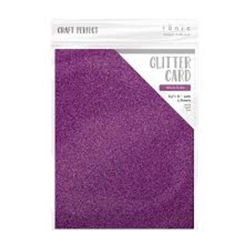Tonic Craft Perfect Glitter Card Nebula Purple 8.5 x 11
