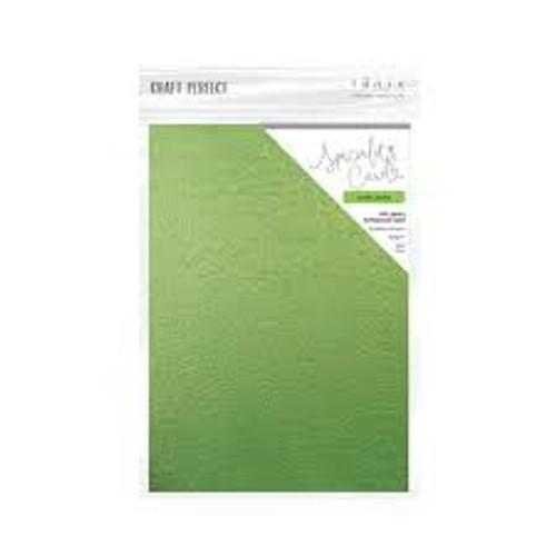 Tonic Craft Perfect Green Leaves Speciality Card Embossed 8.5 x 11