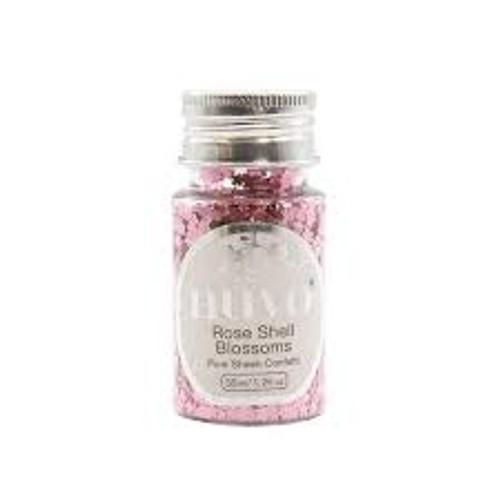 Nuvo Rose Shell Blossoms Confetti
