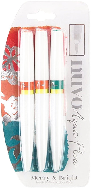 Nuvo Aqua Flow Pens Merry and Bright