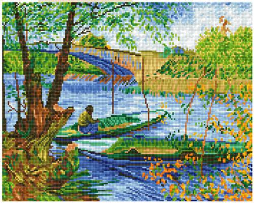 Diamond Dotz Fishing in Spring (Van Gogh)