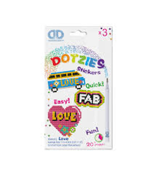 Diamond Dotz Dotzies Love Stickers