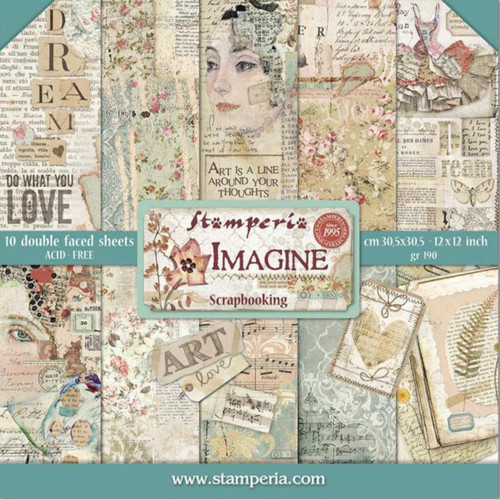 "Stamperia Imagine Paper Pack 12"" x 12"""