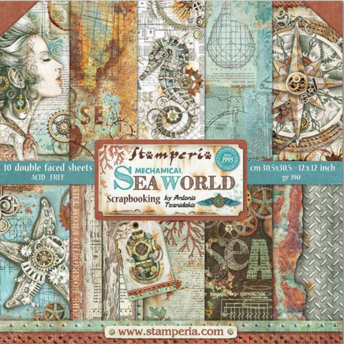 "Stamperia Sea World Paper Pack 12"" x 12"""