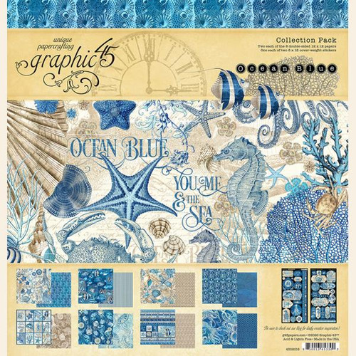 """Graphic 45 Ocean Blue 12"""" x 12"""" Collection Pack"""