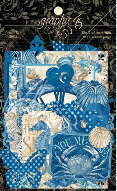 Graphic 45 Ocean Blue Diecut Assortment