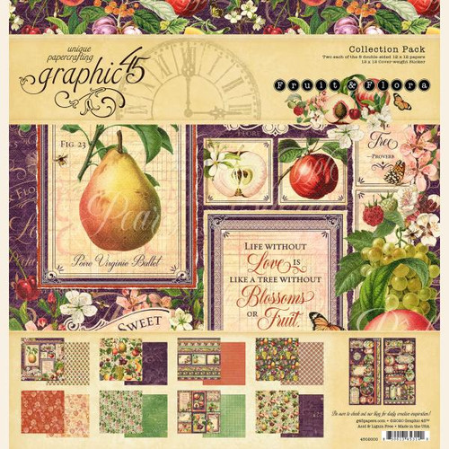 Graphic 45 Fruit and Flora 12 x 12 Collection Pack