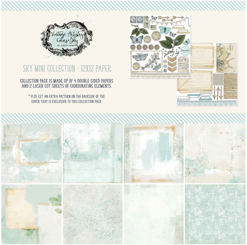 49 and Market Vintage Artistry Sky 12 x 12 Collection Pack