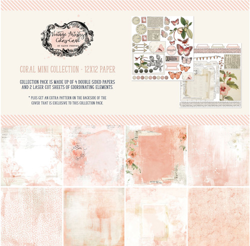 49 and Market Vintage Artistry Coral 12 x 12 Collection Pack