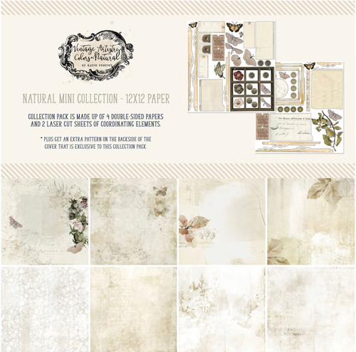 """49 and Market Vintage Artistry Natural 12"""" x 12"""" Collection Pack"""