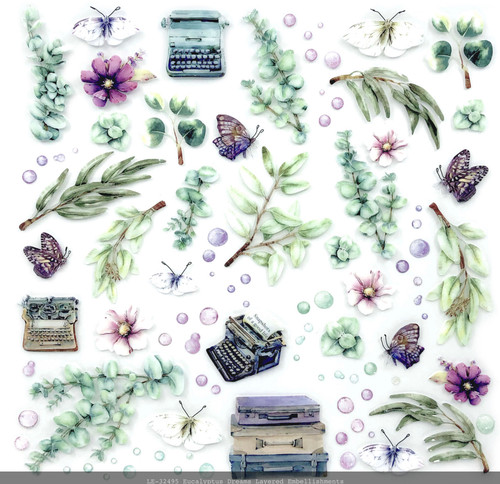 49 and Market Eucalyptus Dreams 12 x 12 Layered Embellishments