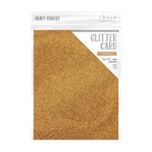 Tonic Craft Perfect Glitter Card Welsh Gold 8.5 x 11