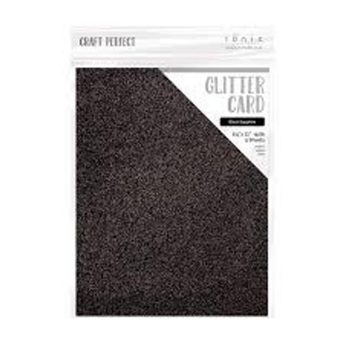 Tonic Craft Perfect Glitter Card Black Sapphire 8.5 x 11