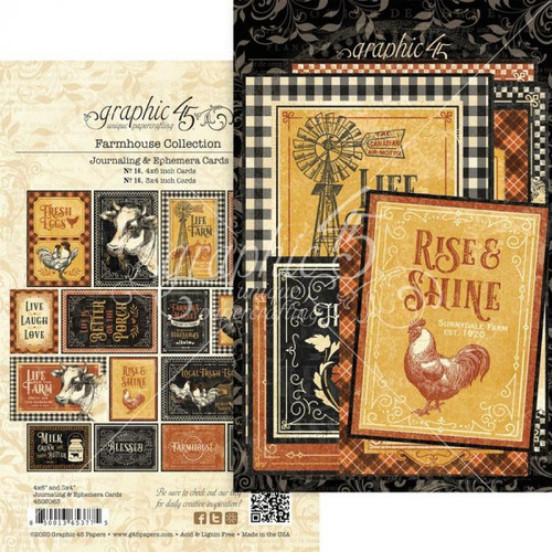 Graphic 45 Farmhouse Ephemera and Journaling Cards