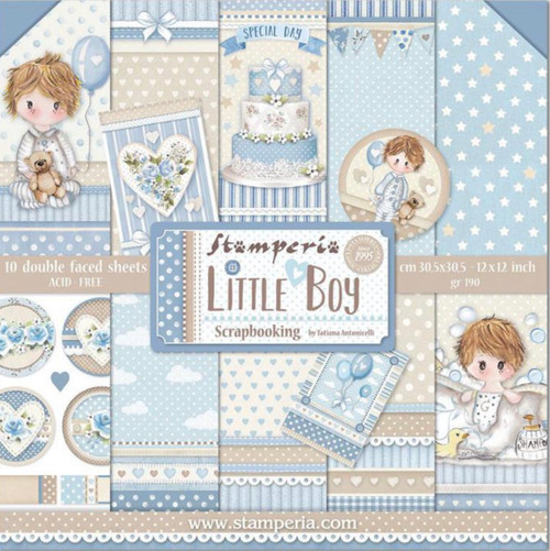 "Stamperia Little Boy Paper Pack 12"" x 12"""
