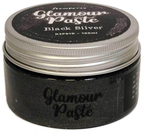 Stamperia Glamour Paste Black Silver