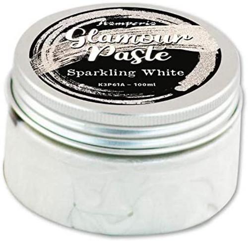 Stamperia Glamour Paste Sparkling White