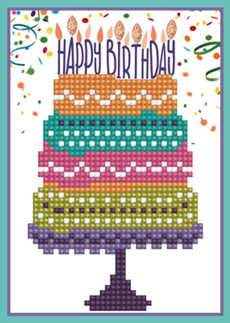 Diamond Dotz Happy Birthday Greeting Card