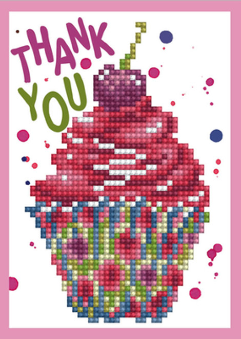 Diamond Dotz Thank you Greeting Card