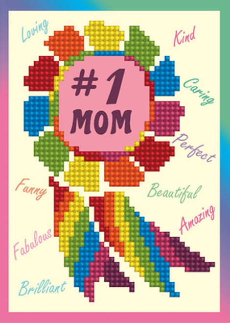 Diamond Dotz #1 Mom Greeting Card