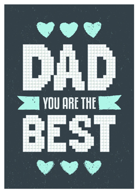 Diamond Dotz Best Dad Greeting Card