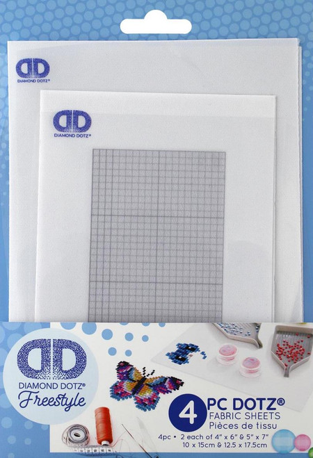 Diamond Dotz Freestyle Fabric Pk Grid 5x7 & 4x6 4pc
