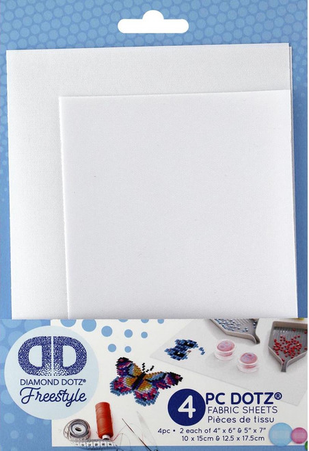 Diamond Dotz Freestyle Fabric Pk Plain 5x7 & 4x6 4pc