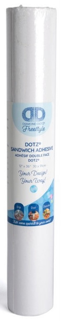Diamond Dotz Freestyle Sandwich Adhesive Roll 12x36