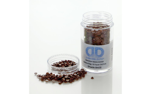 Diamond Dotz Freestyle Gems 2.8mm 12g Chocolate Brown 8403
