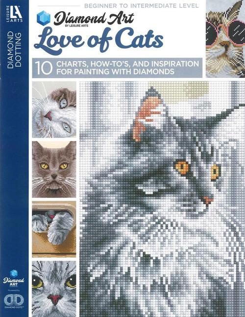 Diamond Art Love of Cats Painting Charts & Idea Book