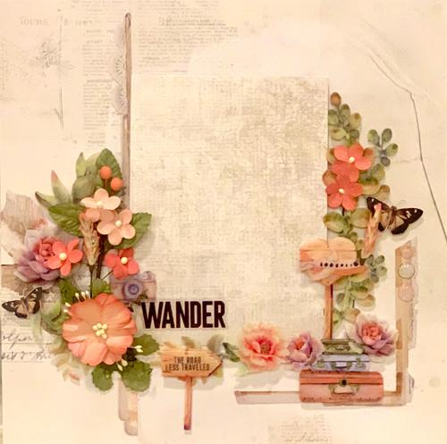 "Kreative Kreations ""Wander & Adventure"" 2-Page Layout feat. 49 & Market (Virtual Class 3)"