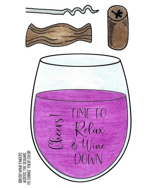 Inky Antics Wine Down Clear Rubber Stamp Sets