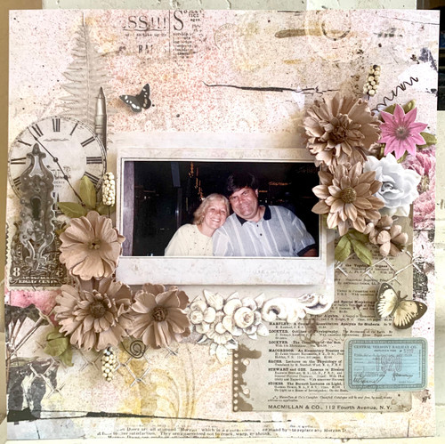 "Kreative Kreations ""Vintage Remnants"" Layout w/ Sparkle Spray (Virtual Class 6)"