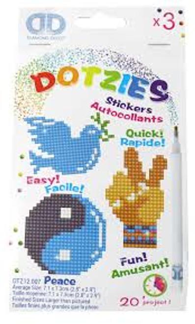 Diamond Dotz Dotzies Peace Stickers