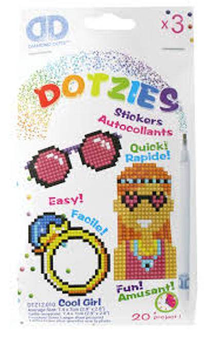Diamond Dotz Dotzies Cool Girl Stickers