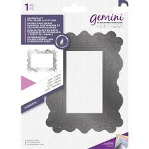 Gemini Foilpress Lyon Frame Stamp and Cut Die