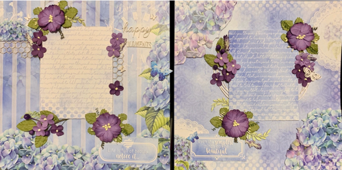 """Kreative Kreations """"Happy Moments""""  2 Page Layout feat. 49 & Market and Dress My Craft"""