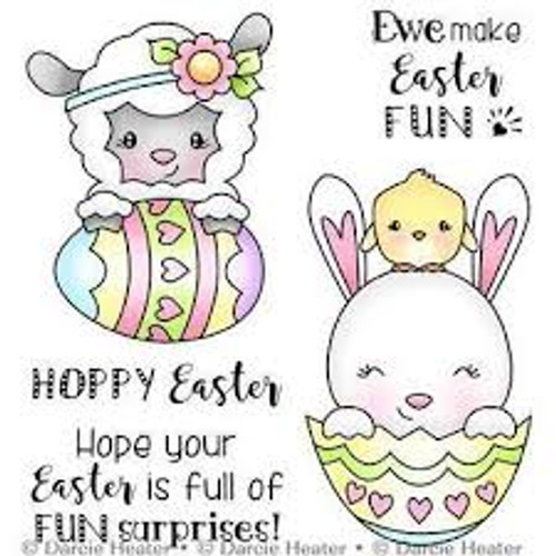 Darcie's Heart & Home Easter Suprises Cling Mounted Rubber Stamp Set