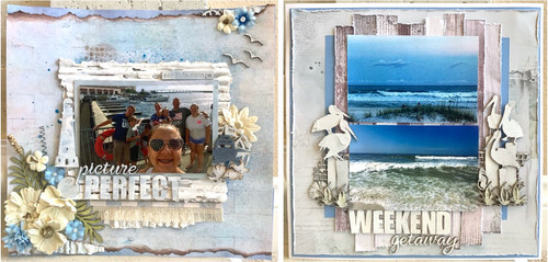"Dusty Attic ""Picture Perfect Weekend"" 2-Page Layout feat. 49 & Market"
