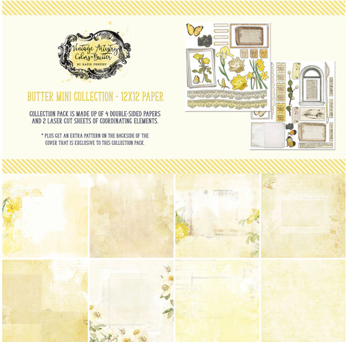 49 and Market Vintage Artistry Butter 12 x 12 Mini Collection