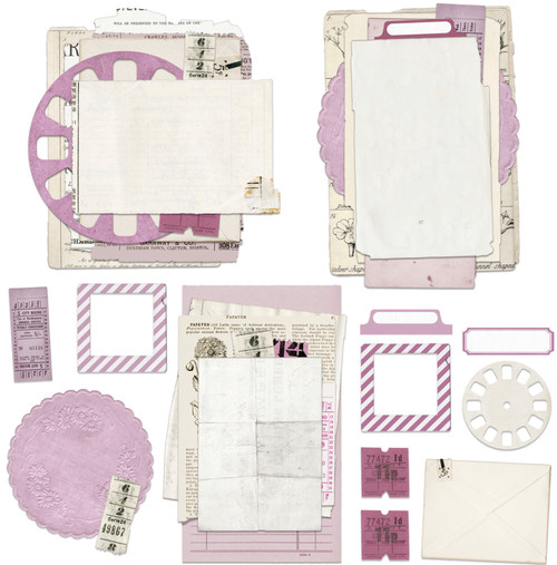 49 and Market Vintage Artistry Lilac Ephemera Stacks