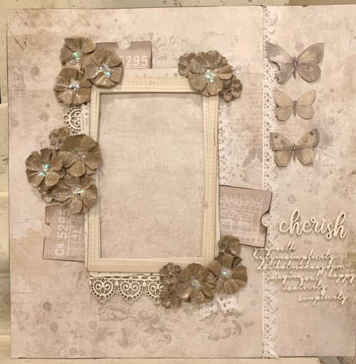 """Cherish Sparkle"" 2-Page Layout Feat. 49 & Market"