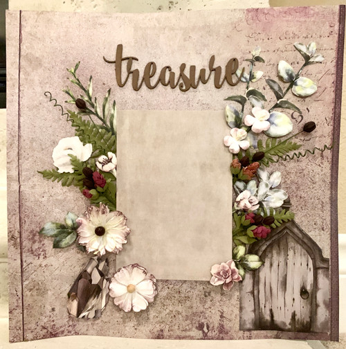"""Treasure Little Moments"" 2-Page Layout incl. Spray (Virtual Class # 8)"