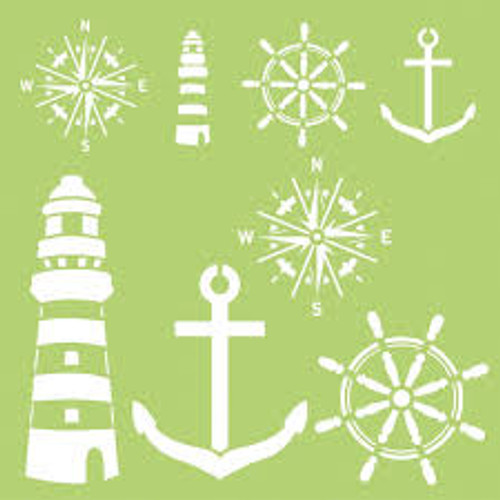 Kaisercraft 12 x 12 Nautical Elements Designer Template