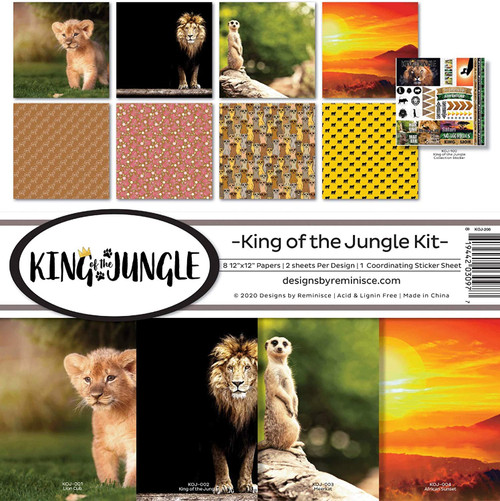 Reminisce King of the Jungle Kit Paper Pack