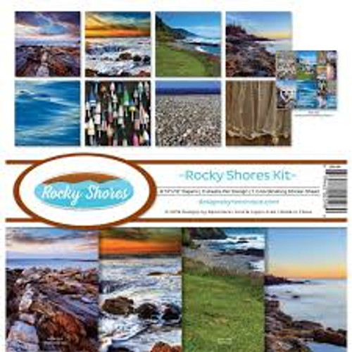 Reminisce Rocky Shores Kit Paper Pack
