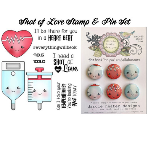 Darcie's Heart & Home Bundle Shot of Love Stamp and Tin Pin Set