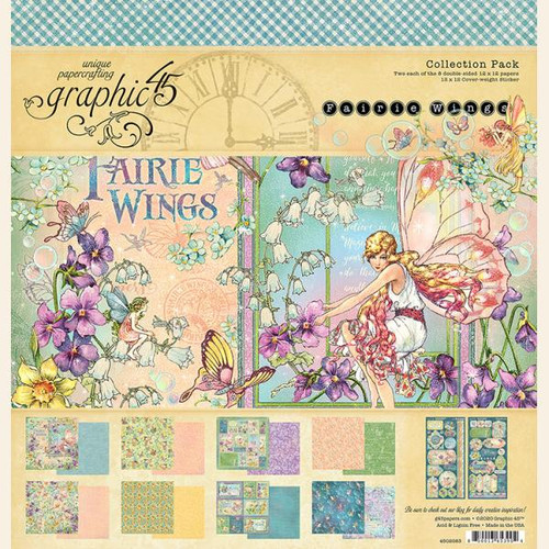 """Graphic 45 Fairie Wings 12"""" x 12"""" Collection Pack"""