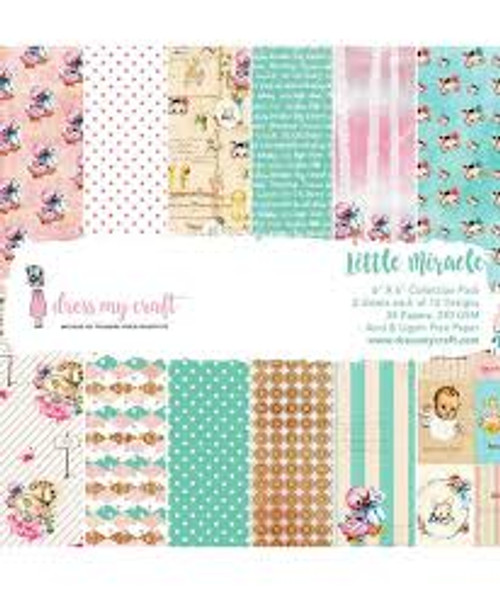 Dress My Craft Little Miracle 6 x 6 Collection Paper Pack