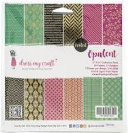 Dress My Craft Opulent  6 x 6 Collection Paper Pack